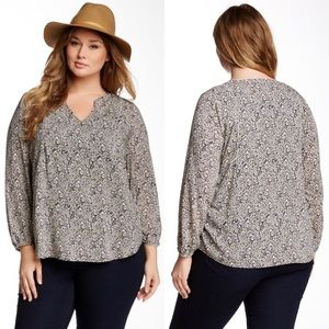 Lucky Brand Ditsy Floral Top Size 3XL